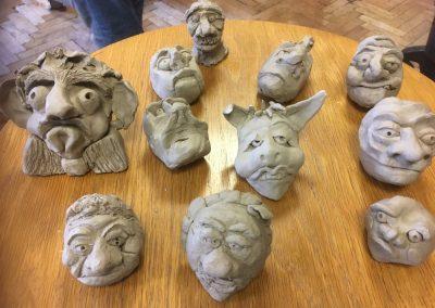 Mange masker klar til Worbla